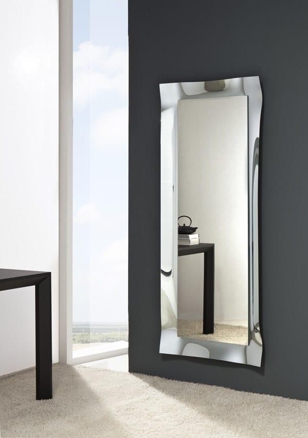 Viva specchio rettangolare collezione viva by riflessi - Specchi da ingresso ...