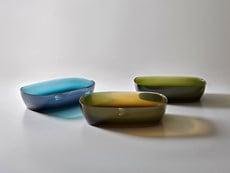 I lavabi antoniolupi in resina trasparente colorata