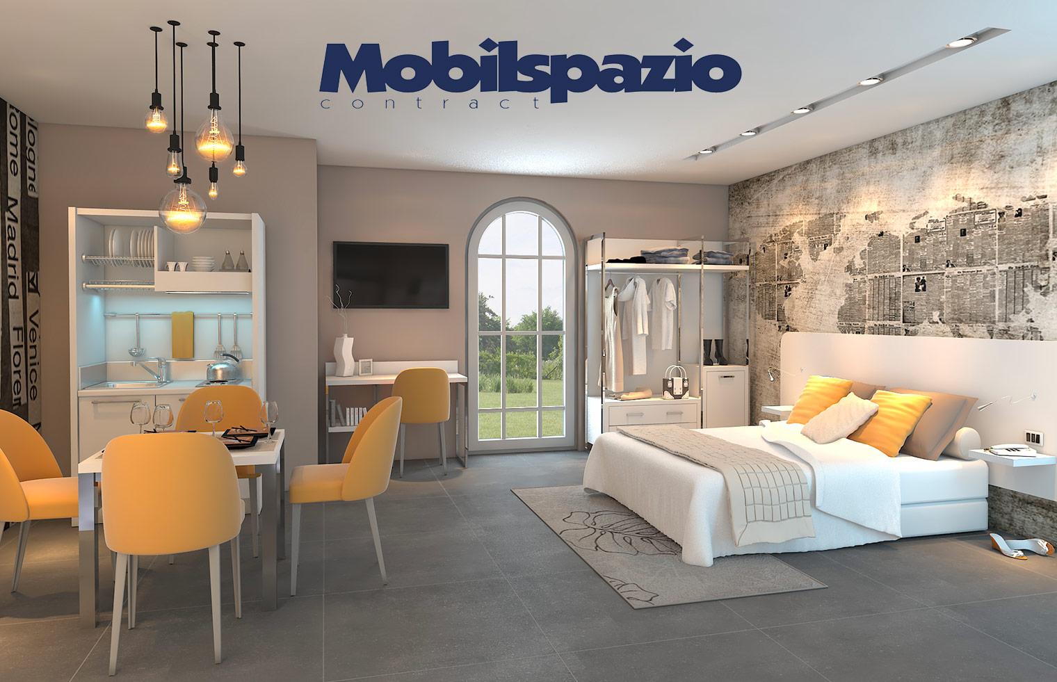 Mobilspazio cucine monoblocco e arredi per hotel e residence for Arredi per alberghi e hotel