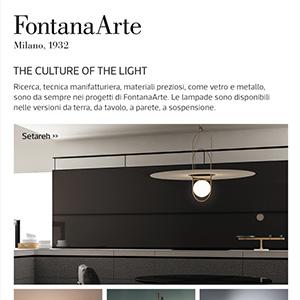 Illuminazione FontanaArte: nuova collezione 2018
