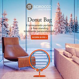Il primo termoarredo portatile e free-standing Scirocco H Donut Bag