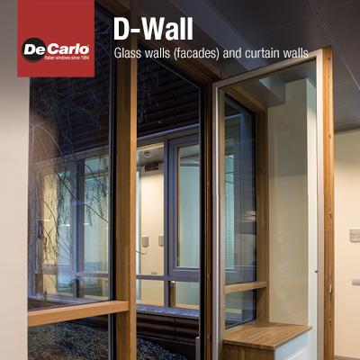 Pareti vetrate e facciate continue D-Wall by De Carlo