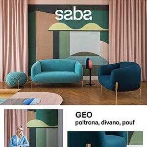 Saba presenta Geo: poltrona, divano, pouf