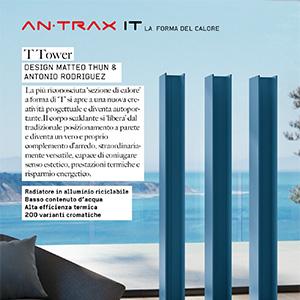 Radiatore free-standing in alluminio T Tower Antrax IT