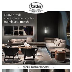 Nuovi arredi Baxter che esplorano i confini del mix and match