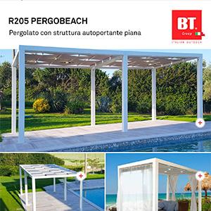 Pergolato autoportante in alluminio R205 Pergobeach by BT Group