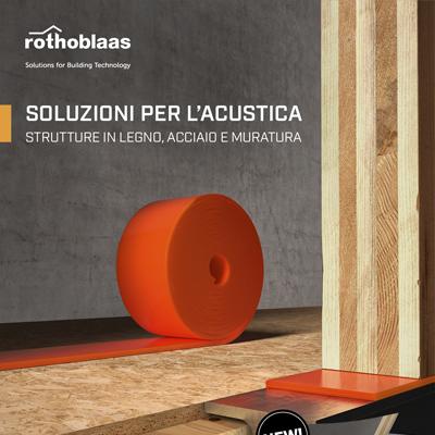 Soluzioni per l'acustica Rothoblaas: scarica il catalogo