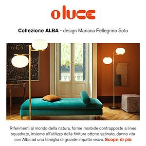 Illuminazione Oluce, collezione Alba