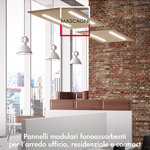 Pannelli divisori e decorativi fonoassorbenti Mascagni