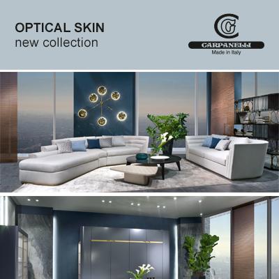 Arredi contemporary Carpanelli: collezione Optical Skin 2018
