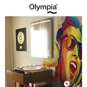 Il lavabo come una consolle musicale anni '80 by Olympia Ceramica