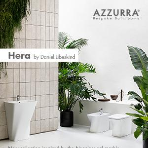 Azzurra sanitari presenta Hera: ispirazione neoclassica by Daniel Libeskind