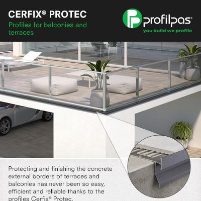Profili gocciolatoi Profilpas per balconi e terrazze