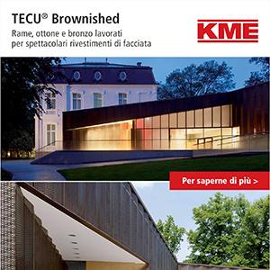 Rame, ottone e bronzo TECU lavorati per spettacolari rivestimenti di facciata