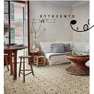 Pavimenti e rivestimenti in stile rétro: Ottocento by Ragno
