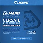 Mapei ti invita a Cersaie - Galleria Pad. 25-26