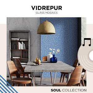 Mosaici in vetro Vidrepur: collezioni Soul e Nordic
