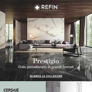 Ceramiche Refin Prestigio: effetto marmo in grandi formati