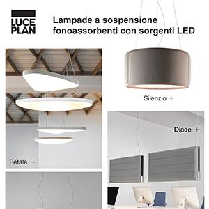 Illuminazione, design e comfort acustico by Luceplan