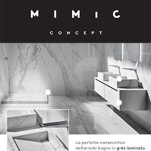Arredo bagno in grès laminato: collezioni MIMIC