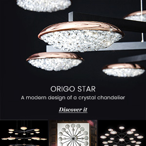 Lampadario in cristallo Origo Star Manooi