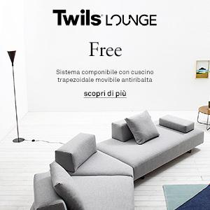Twils presenta Free: divano componibile con cuscino antiribaltamento