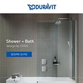 Doccia e vasca in un'unica soluzione: Duravit Shower + Bath