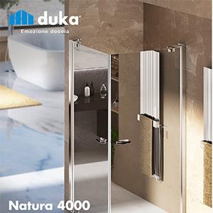 Il profilo innovativo che rivoluziona l'ambiente doccia: natura 4000 by duka