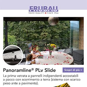 Vetrata scorrevole con pannelli indipendenti Panoramline PLv Slide
