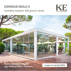Pergola Gennius Isola 3: comfort outdoor 365 giorni l'anno
