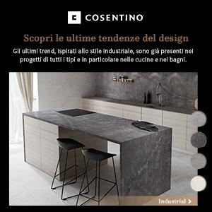 Superfici Cosentino in pietra naturale o stile industriale per bagni e cucine