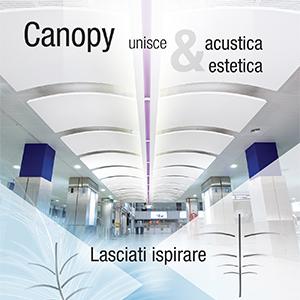 Acustica ed estetica con i controsoffitti Canopy