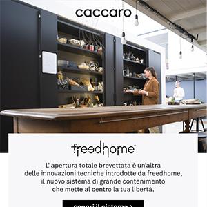 Sistema di grande contenimento ad apertura totale Freedhome by Caccaro