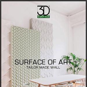 Rivestimenti decorativi tridimensionali 3D surface