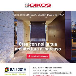 Porte d'ingresso Oikos: alte prestazioni e design made in Italy