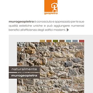 Murogeopietra: rivestimenti in pietra ricostruita in un unico sistema integrato