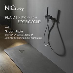 Piatto doccia in Ecobiosolid by Nic Design