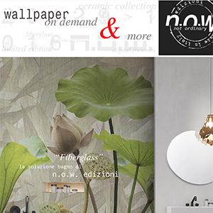 Carte da parati in fibra di vetro per ambienti umidi: Fiberglass by N.O.W. Edizioni