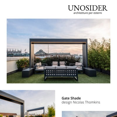 Arco autoportante con tende da sole Gate Shade by Unosider