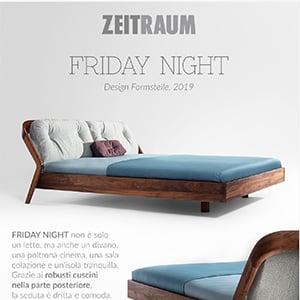 Zeitraum presenta Friday Night: il letto per sonni tranquilli