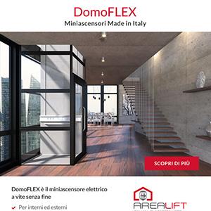 DomoFlex - L'unico miniascensore italiano, elettrico a vite senza fine con corsa fino a 12 m