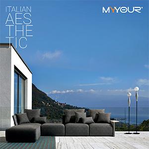 Divano sfoderabile modulare per outdoor Begin by Myyour