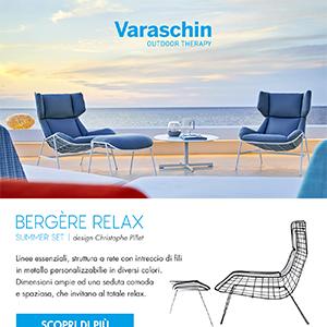 Bergère Relax, la poltrona in acciaio riciclabile Varaschin