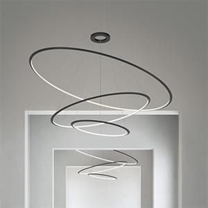 Arredare con la luce: sospensione Circular by Grok