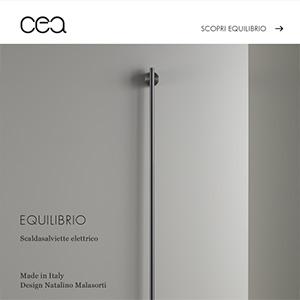 Scaldasalviette elettrico modulare in acciaio inox Equilibrio Ceadesign