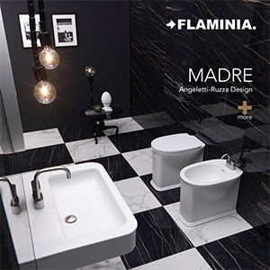 Ceramica Flaminia collezione Madre: lavabi, vasi, bidet