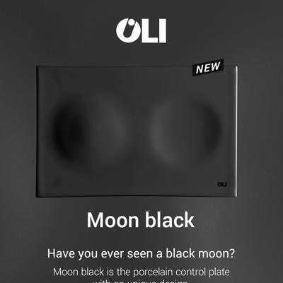 Placca di comando in porcellana: Oli presenta Moon nera