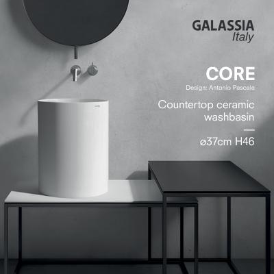 Lavabo cilindrico in ceramica: Core by Galassia