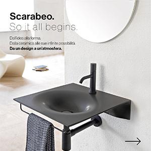Il lavabo sospeso sottile come un foglio: VEIL by Scarabeo Ceramiche