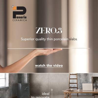 Lastre ceramiche sottili e in grande formato: Zero.3 di Panaria